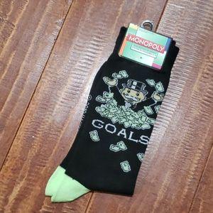 Monopoly 6-12 size crew socks